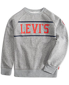 Levi's® Big Boys Cory Stripe Fleece Pullover Sweatshirt