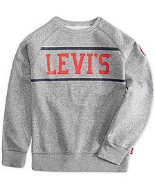 Levi's® Big Boys Cory Stripe Fleece Pullover Sweatshirt