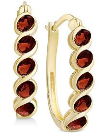 Multi-Gemstone Hoop Earrings (1-5/8 ct. t.w.) in 18k Gold-Plated Sterling Silver (Also in Peridot, Rhodolite Garnet, Citrine, Blue Topaz & Amethyst)