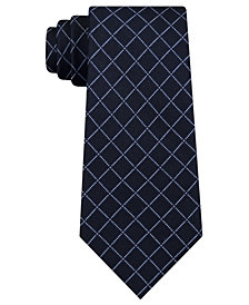 DKNY Men's Electric Grid Check Slim Silk Tie