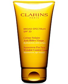 Sunscreen For Face Wrinkle Control Cream SPF 30, 2.6 oz.