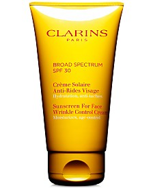 Clarins Sunscreen For Face Wrinkle Control Cream SPF 30, 2.6 oz.