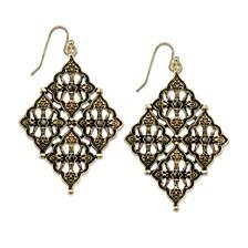 Gold-Tone Diamond Shaped Earrings