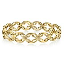 Gold-Tone Link Bangle Bracelet