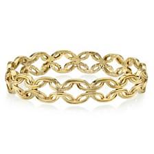 2028 Gold-Tone Link Bangle Bracelet