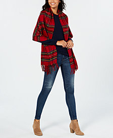 V. Fraas Super-Soft Tartan Fringe Wrap