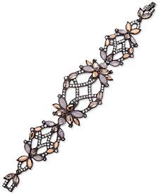 Jenny Packham Hematite-Tone Crystal Flex Bracelet