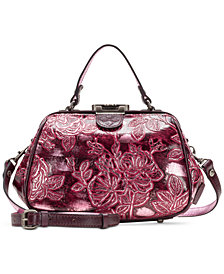 Patricia Nash Gracchi Metallic Embossed Leather Satchel, Created for Macy's