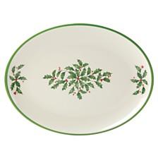 Lenox Holiday Holiday Melamine Oval Platter