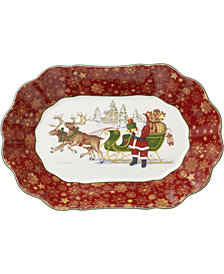 Villeroy & Boch Toy's Fantasy Santa's Sleigh Large Oval Bowl