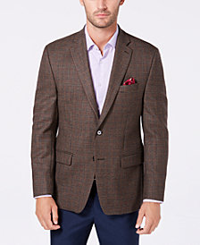 Lauren Ralph Lauren Men's UltraFlex Classic/Regular Fit Stretch Brown Check Wool Sport Coat