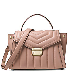 MICHAEL Michael Kors Whitney Quilted Top-Handle Satchel