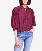 8886300fc Free People Rush Hour Point-Collar Peasant T-Shirt