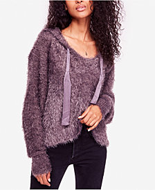 Free People Light As A Feather Fuzzy Hoodie