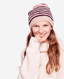 Free People Tullamore Striped Printed Beanie