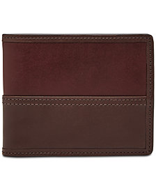 Fossil Men's Tate RFID Leather Flip ID Bifold Wallet