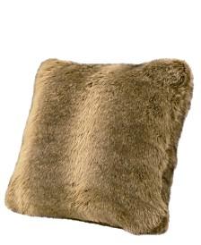 "18""x18"" Faux Fur Wolf Pillow"