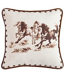 """18""""x18"""" Horse Pillow"""