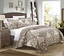 Chic Home Napoli 3 Piece Queen Quilt Set