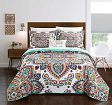 Chic Home Chagit 4 Piece Queen Quilt Set