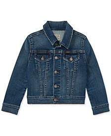 폴로 랄프로렌 여아용 트러커 자켓 Polo Ralph Lauren Toddler Girls Denim Trucker Jacket,Marcella Wash