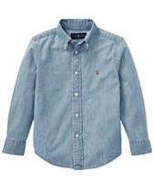 02a3559eb boys denim shirt - Shop for and Buy boys denim shirt Online - Macy's