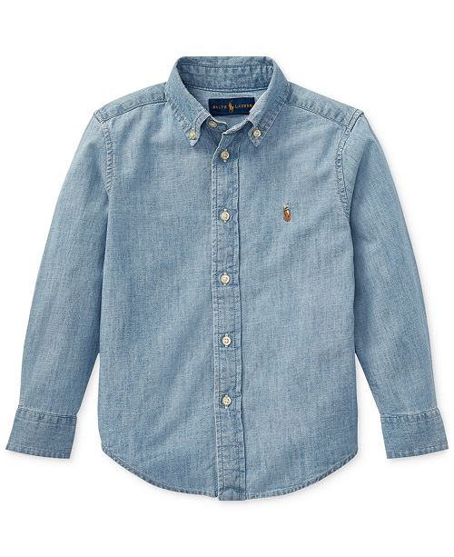 Polo Ralph Lauren Toddler Boys Cotton Chambray Shirt