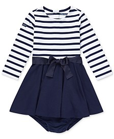 Ralph Lauren Baby Girls Striped Fit & Flare Dress