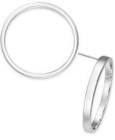 Alfani Silver-Tone Hoop Stud Earrings, Created for Macy's