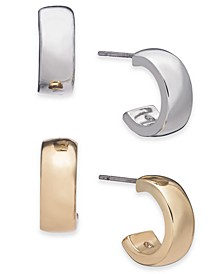 Two-Tone 2-Pc. Set Small Hoop Earrings  , Created for Macy's