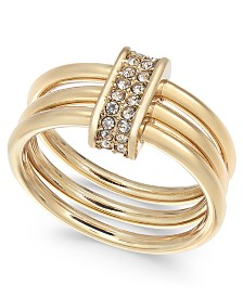 Alfani Pavé Link Triple-Row Ring, Created for Macy's