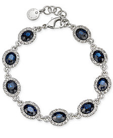 Charter Club Silver-Tone Stone and Crystal Link Bracelet, Created for Macy's