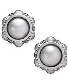 Charter Club Silver-Tone Imitation Pearl Stud Earrings, Created for Macy's