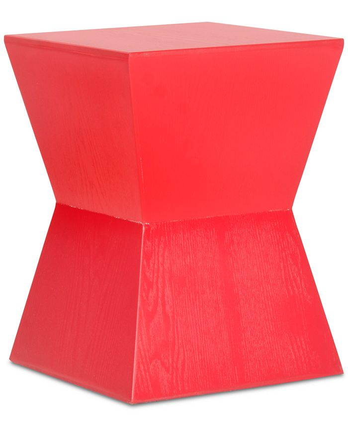 Safavieh - Lotem Curved Square Accent Table, Quick Ship