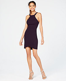 City Studios Juniors' Open-Back Bodycon Dress, Created for Macy's
