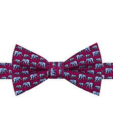 Tommy Hilfiger Men's Elephant Print Pre-Tied Silk Bow Tie