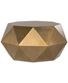 Astrid Faceted Coffee Table, Quick Ship