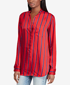 Lauren Ralph Lauren Striped Twill Shirt