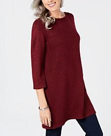 Marled Boat-Neck Sweater