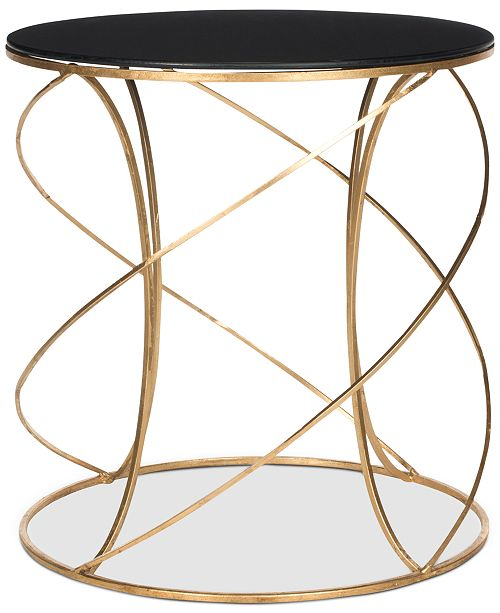 Safavieh Cagney Glass Top Round Accent Table