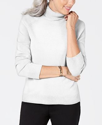 Karen Scott Petite Luxsoft Turtleneck Sweater Created For Macys
