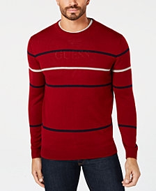 Club Room Men's Pop Striped Sweater, Created for Macy's