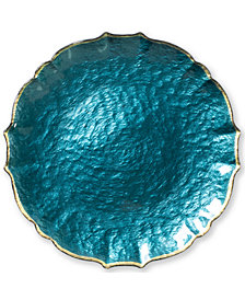 Vietri Pastel Glass Collection Aqua Service Plate/Charger
