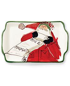 VIETRI Old St. Nick Naughty or Nice Rectangular Plate