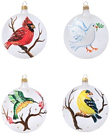 4-Pc. Assorted Bird Ornament Set