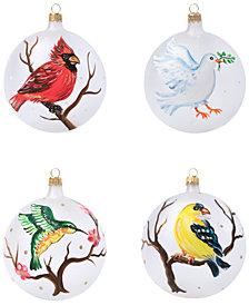 Vietri 4-Pc. Assorted Bird Ornament Set