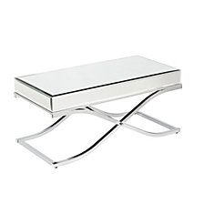 Ava Mirrored Cocktail Table, Quick Ship