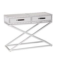 Lazio Industrial Mirrored Console Table, Quick Ship