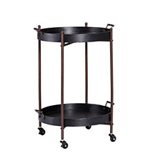 Alfred Two-Tier Round Butler Table, Quick Ship