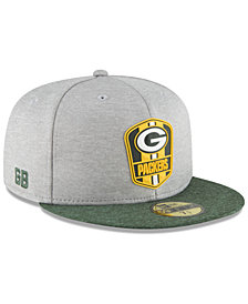 New Era Boys' Green Bay Packers Official Sideline Road 59FIFTY Fitted Cap